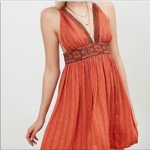 Kimchi Blue orange dress